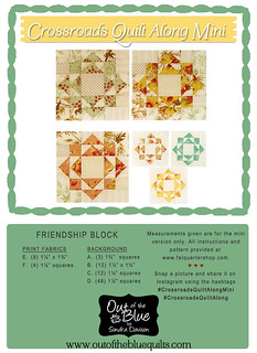Crossroads Quilt Along Friendship Block │ Out of the Blue Quilts by Sondra Davison | by Out of the Blue Quilts
