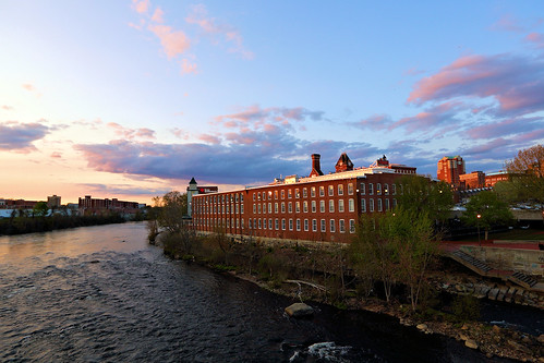 city sunset sky mill skyline architecture canon buildings river manchester eos evening flickr newengland newhampshire nh riverbank merrimackriver 366 day130366 366the2016edition 3662016 9may16