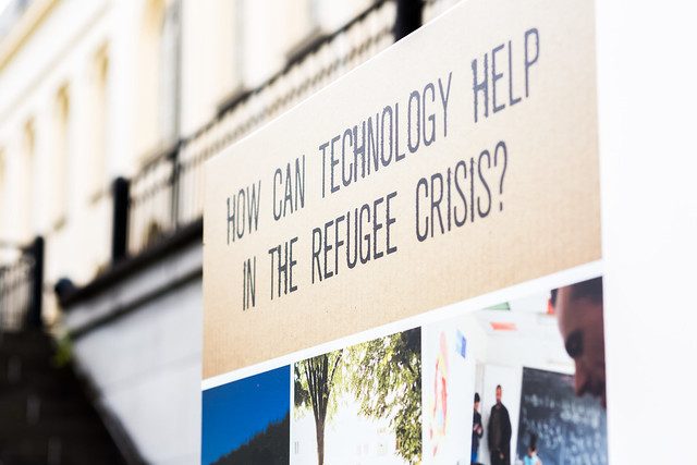 How can technology help in the refugee crisis?