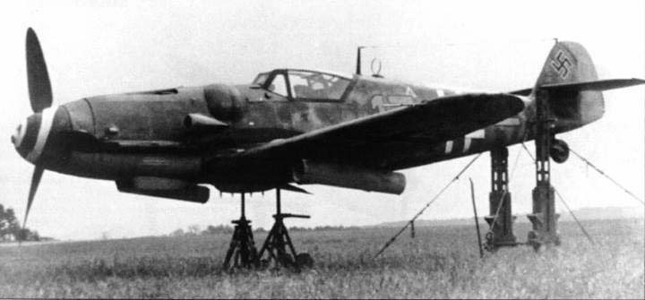 A Me 109G-6 of 12.JG 2 is prepared