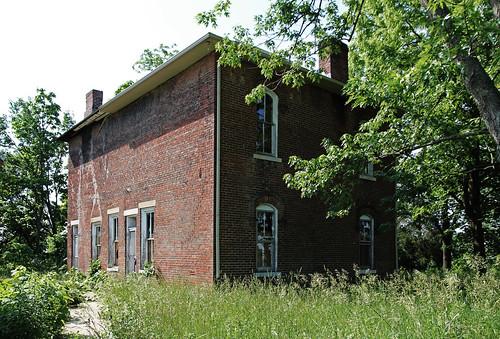 county windows ohio house brick abandoned overgrown grass farmhouse 22 andrews view farm union center historic darby chimneys pleasant township unionville italianate 1872 arched segmental
