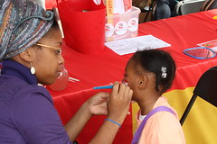 Face painters busy at work!