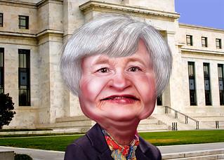 Janet Yellen - Caricature   by DonkeyHotey
