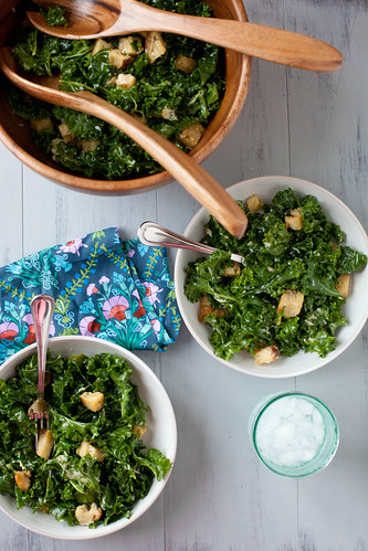 Massaged Kale Caesar Salad | Annie's Eats | by annieseats