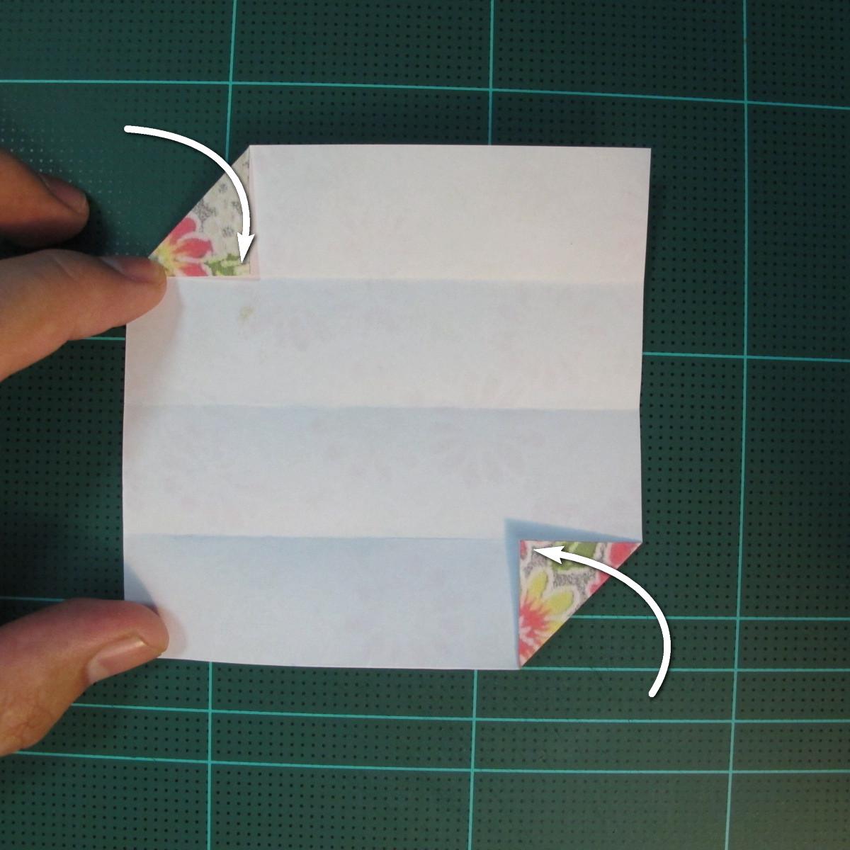 การพับกระดาษเป็นรูปเรขาคณิตทรงลูกบาศก์แบบแยกชิ้นประกอบ (Modular Origami Cube) 006