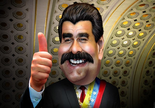 Nicolás Maduro - Caricature   by DonkeyHotey