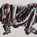"""Gafanhoto!?""./""Grasshopper!?"". Pastel sobre papel/Pastel on paper, 2004."