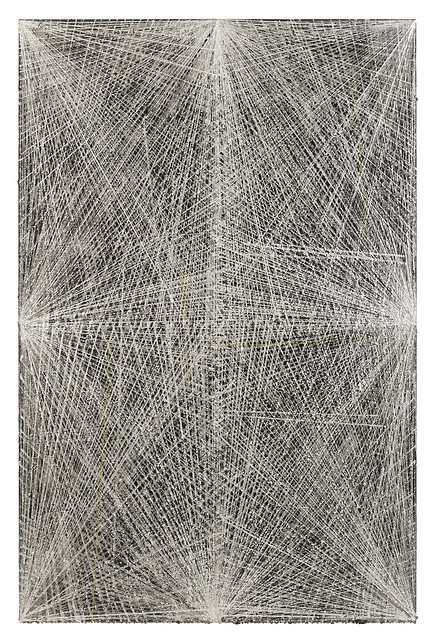 Peter Peri, Skeleton Painting (With Magnets) , 骨架画(磁铁),2012, Spray paint and marker pen on canvas, 210 x 138 cm