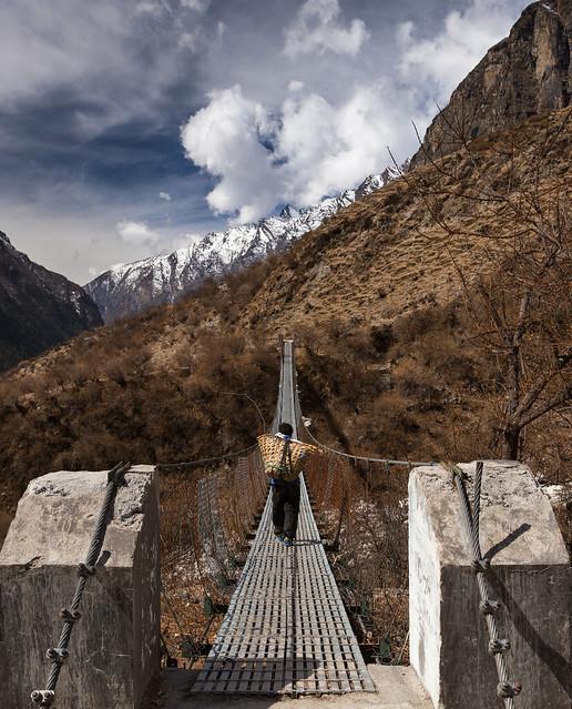 Porter crossing suspension bridge