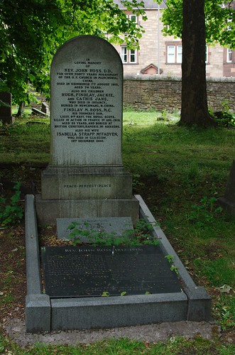Grave of Rev John Ross