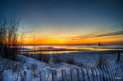 Delaware Bay Sunset | by Bob Mical