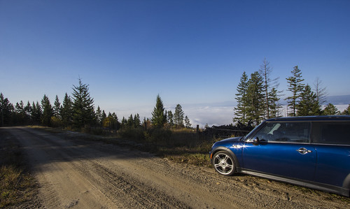 road morning blue trees wild sky sun mountain canada mountains cold nature beautiful car sunshine clouds photoshop canon outside fly cool nice pretty raw colours bc view britishcolumbia okanagan wideangle lookout calm jetstream valley minicooper dslr favourite vernon