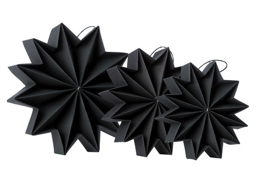 Pleat Stars - Black | by all things paper