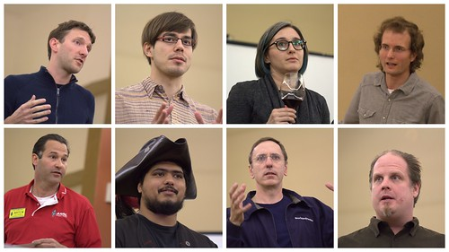 speakers at the 7th HacDC Lightning Talks