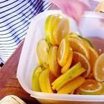 レモン頂いたのでハチミツレモン作った。