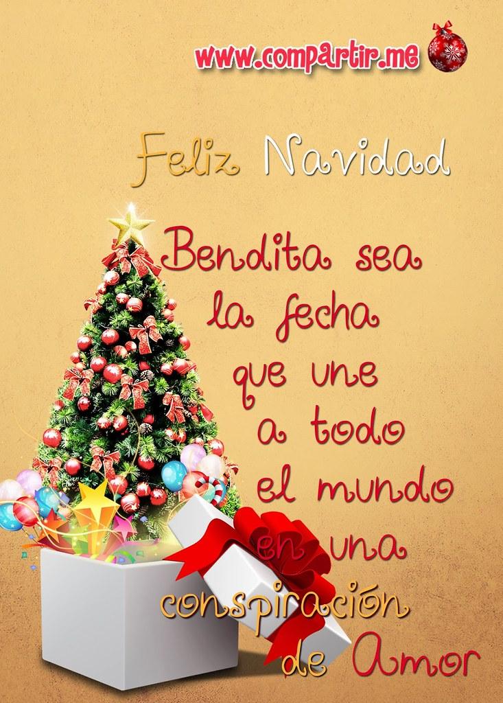 Diseño De Tarjeta Con Frase De Feliz Navidad