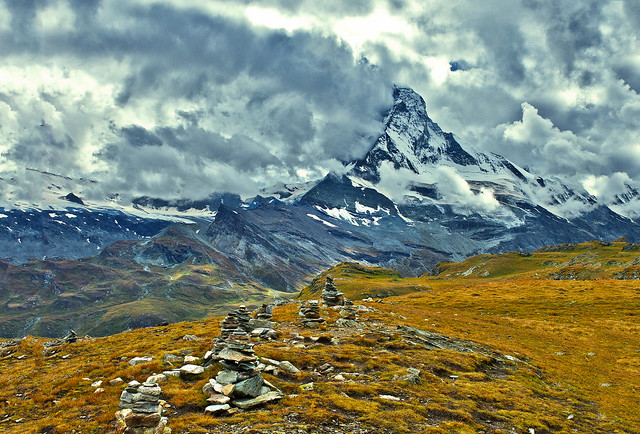 Stormy weather on the Matterhorn, no. 2578.