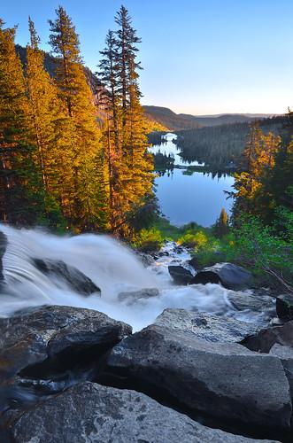 california color sunrise waterfall nikon twinfalls twinlakes mammothlakes easternsierras lakemary lakemamie davidshield