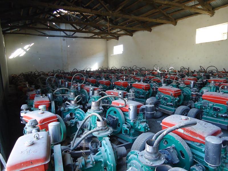 Indoor Storage Area for Irrigation Pumps