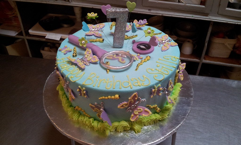 Cool Entomology Themed Birthday Cake With Butterflies And Bugs Flickr Funny Birthday Cards Online Overcheapnameinfo