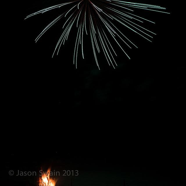 Bonfire night firework party, Yarmouth, Isle of Wight - IMG_5722