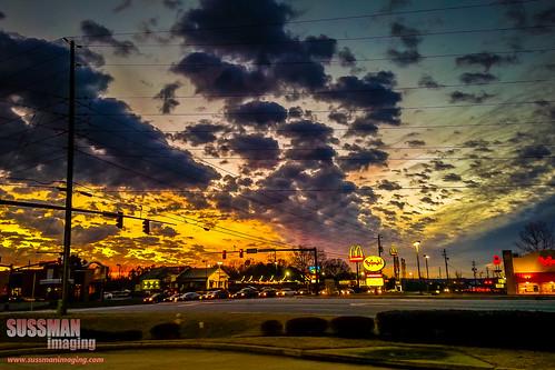 sunset sky trafficlights nature clouds georgia mcdonalds wires jefferson arbys bojangles zaxbys jacksoncounty thesussman sussmanimaging samsunggalaxynoteii