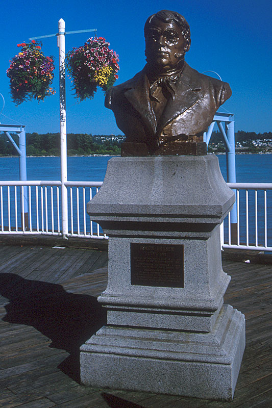 Simon Fraser Statue, New Westminster, Greater Vancouver, British Columbia, Canada
