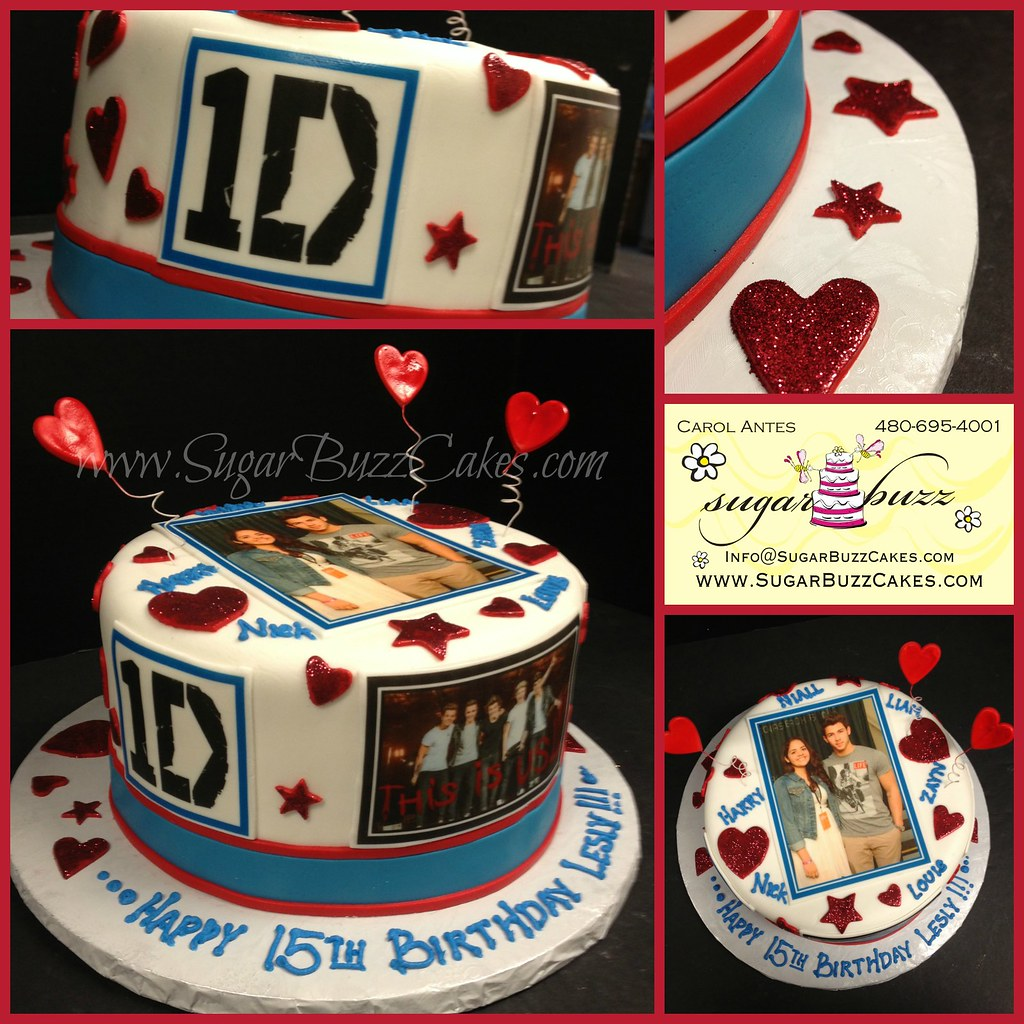Astounding One Direction Birthday Cake A Photo On Flickriver Personalised Birthday Cards Paralily Jamesorg