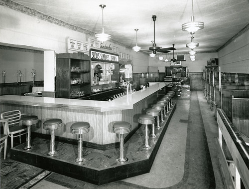 Majestic Restaurant, Interior | by Local History & Archives, Hamilton Public Library