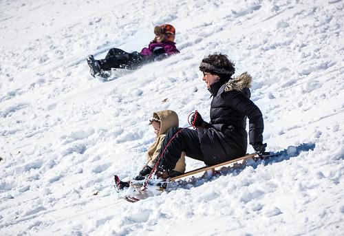 winter woman snow fun virginia child action hill richmond va sledding libby active rva