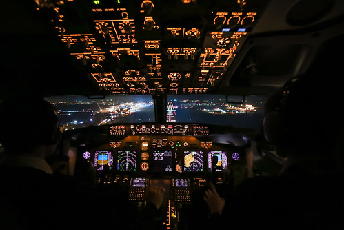 Boeing 737 - Cockpit Landing | by gc232