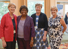 4 lovely former 'first ladies' of District 7710 including Wanda Parker, club member and PDG Mack Parker's wife.
