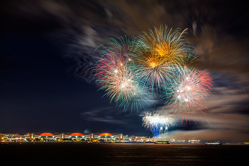 longexposure chicago night illinois unitedstates time fireworks lakemichigan greatlakes northamerica navypier geography