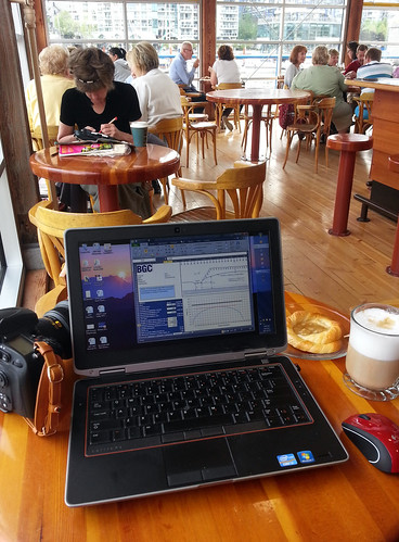 A working breakfast at Granville Island 2013