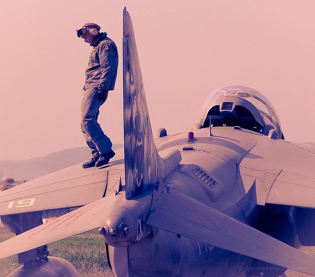 Walking on a Harrier