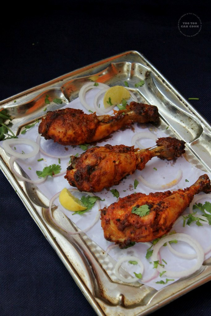Crispy baked chicken drumsticks indian recipe