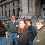 Family outside NY Library