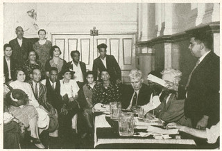 Section of Aboriginal meeting in Australian Hall