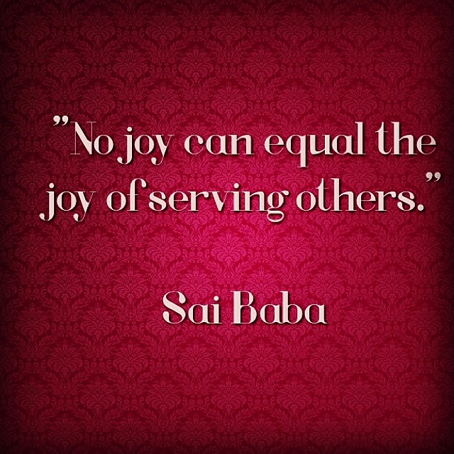No joy can equal the joy of serving others