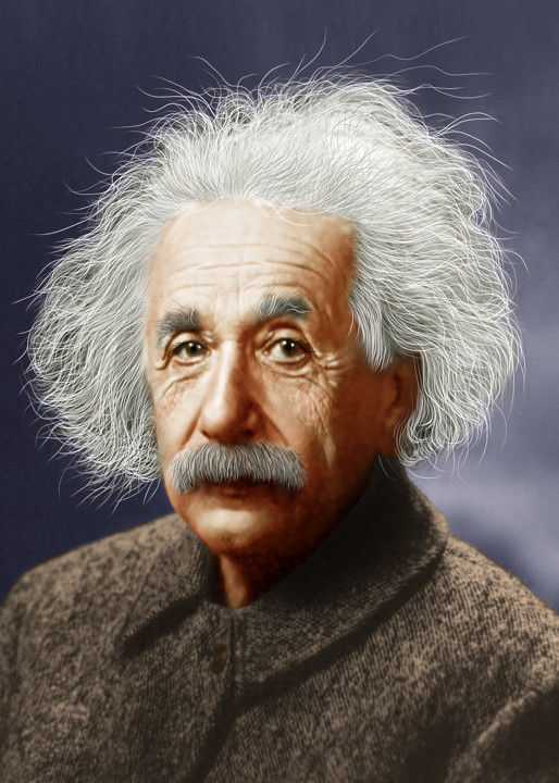 Albert einstein colorized albert einstein was a - Albert einstein hd images ...