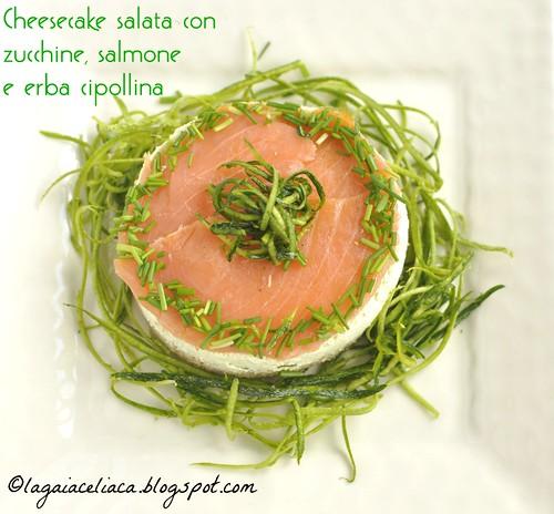 Cheesecake salata di zucchine e salmone senza glutine | by mammadaia