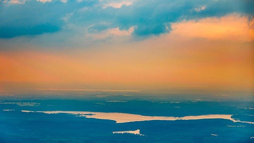 Westensee at sunset taken from a hot air balloon. | by MRFotografie