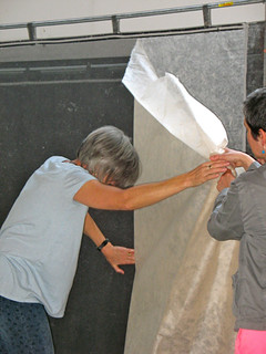 Taking off a sheet