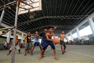 Basketball games in the newly-rehabilitated Estancia Civic Center | by dilg.yolanda