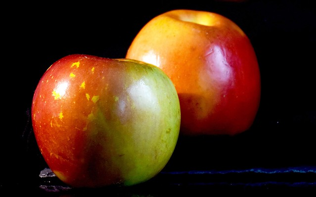 Two beautiful apples