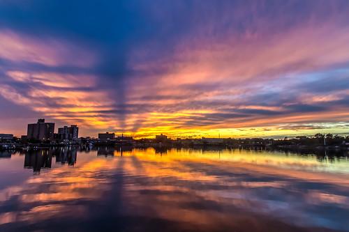 2015 fall sunset navesink river sky clouds redbank nj og hdr