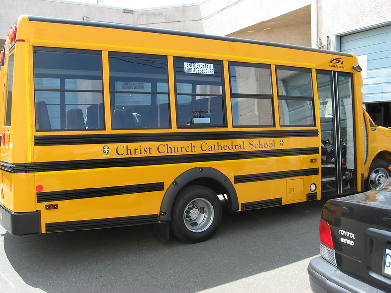 Christ Church schhol bus vehicle graphics