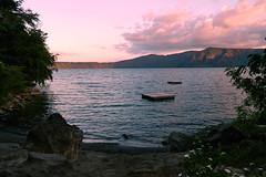 Sunset in laguna de Apoyo