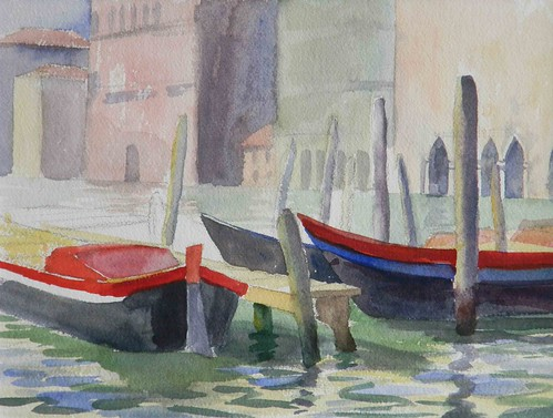 Work-Boats on the Grand Canal, Venice