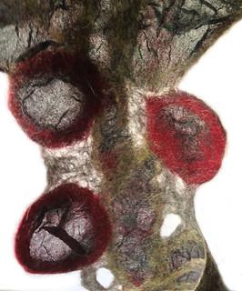 flower scarf detail